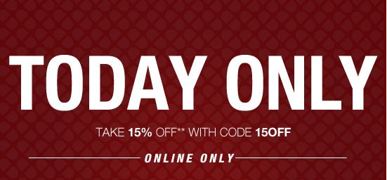 Today only - Take 15% off** with code 15OFF