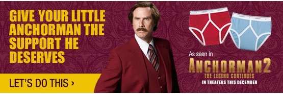 Give your little anchorman the support he deserves. As seen in Anchorman 2: The Legend Continues