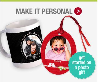 Make it personal with a photo gift: Get started.