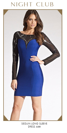 Sequin Long Sleeve Dress