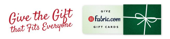 Fabric.com Gift Cards Available!