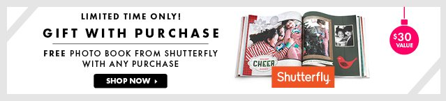 Shutterfly Gift With Purchase!