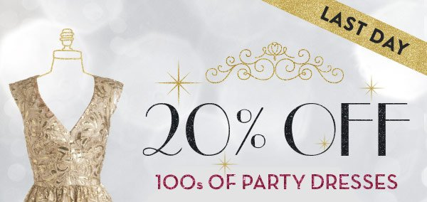 20% OFF 100s of Party Dresses
