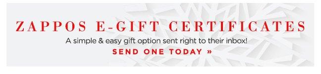 Shop E-Gift Certificates