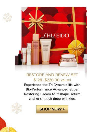 RESTORE AND RENEW SET | $128 ($220.00 value) | SHOP NOW