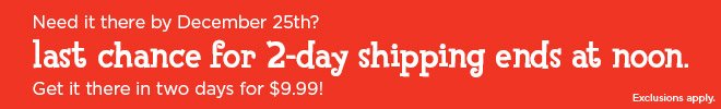 Last chance for 2-day shipping ends at noon. Get it there for only $9.99!