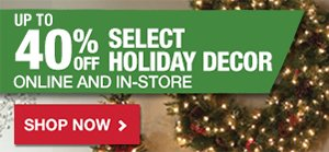 Up to 40% OFF Select Holiday Décor
