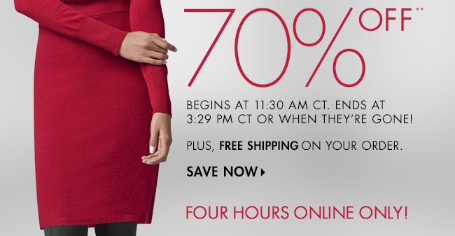 Midday Dash: Up to 70% off  Cashmere
