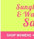 Shop Womens Sunglasses and Watches Sale
