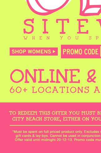 Shop Womens 20% Off Full Price