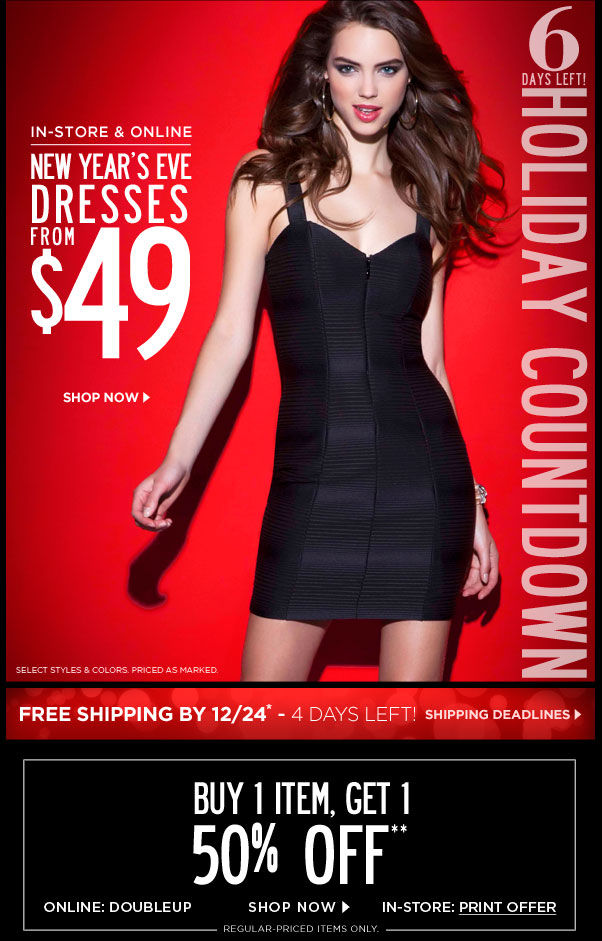 New Year's Eve Dresses from $49