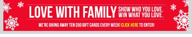 SHOW YOUR LOVE AND WIN! $50 Gift Card Giveaway! ENTER NOW!