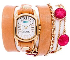 Ruby Stones by the Yard Wrap Watch