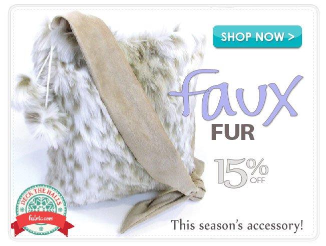 15% Off Faux Fur Apparel Fabric