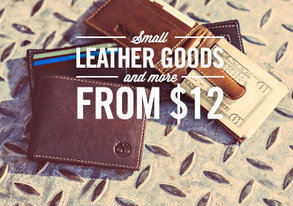 Shop Small Leather Goods & More from $12