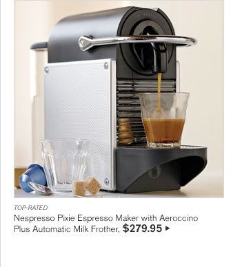 TOP-RATED - Nespresso Pixie Espresso Maker with Aeroccino - Plus Automatic Milk Frother, $279.95