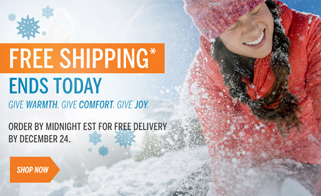 FREE GROUND SHIPPING ENDS TODAY