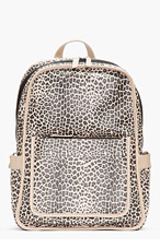 MARC BY MARC JACOBS SSENSE exclusive Beige Leopardmania Leather Backpack for women