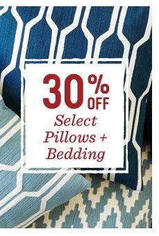 30% off select pillows + bedding