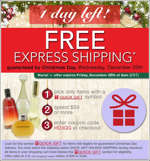 Free Express Shipping* - Guaranteed by Christmas Day