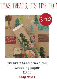 3m kraft hand drawn roll wrapping paper