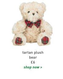 tartan plush bear