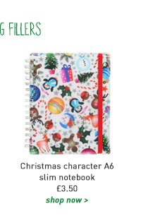christmas character a6 slim notebook