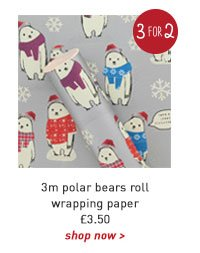 3m polar bears roll wrapping paper