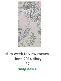 slim week to view rococo linen 2014 diary