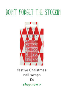 festive christmas nail wraps