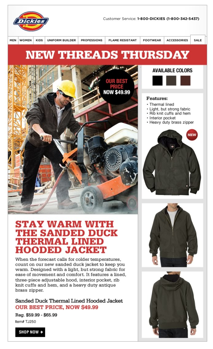 New Threads Thursday: Sanded Duck Thermal Lined Hooded Jacket