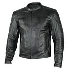 Xelement 'Renegade' Mens Motorcycle Leather Jacket with Gun Pockets