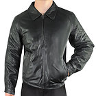 Xelement Mens Black Bomber Leather Jacket