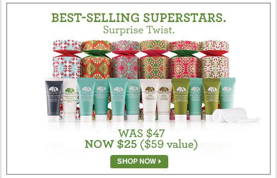 BEST SELLING SUPERSTARS Surprise Twist WAS 47 dollars NOW 25 dollars SHOP NOW