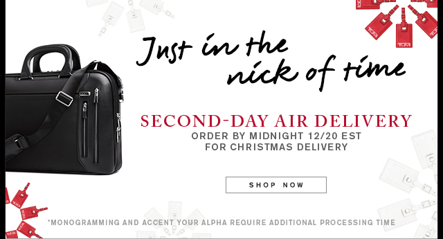 Just in the nick of time - Second-day air delivery - Shop Now