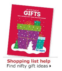 Shopping list help Find nifty gift ideas