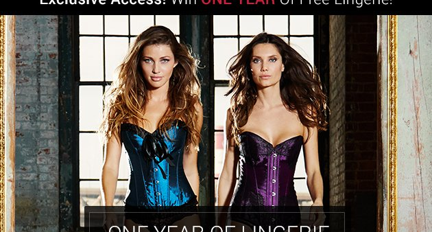 Win one year of free lingerie