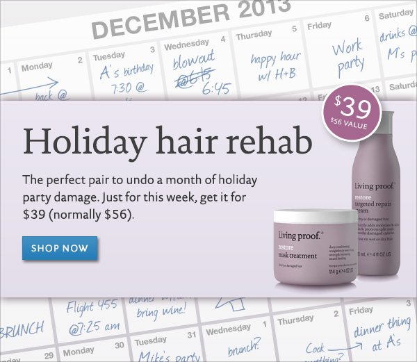 Exclusive holiday set: Restore Holiday Hair Rehab