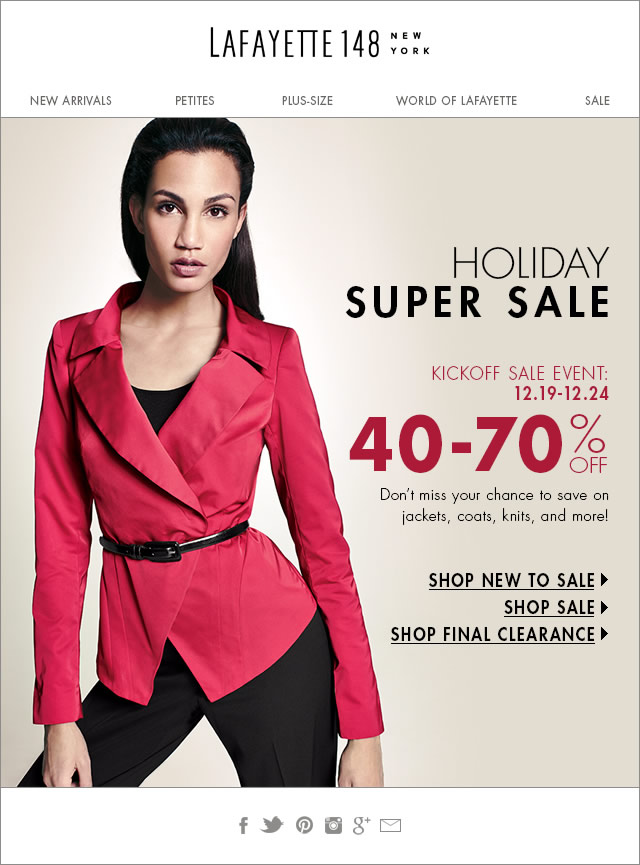 Holiday Super Sale: New Markdowns 40-70% Off