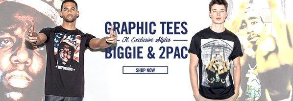 Shop Best-Selling Tees ft. 2Pac & Biggie