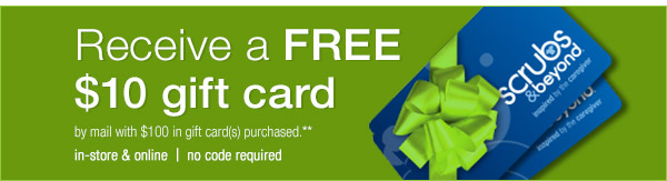 Receive a free $10 gift card!