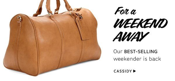 For a weekend away. Shop Cassidy