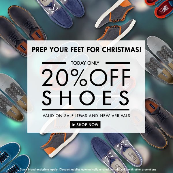 20% off Shoes!