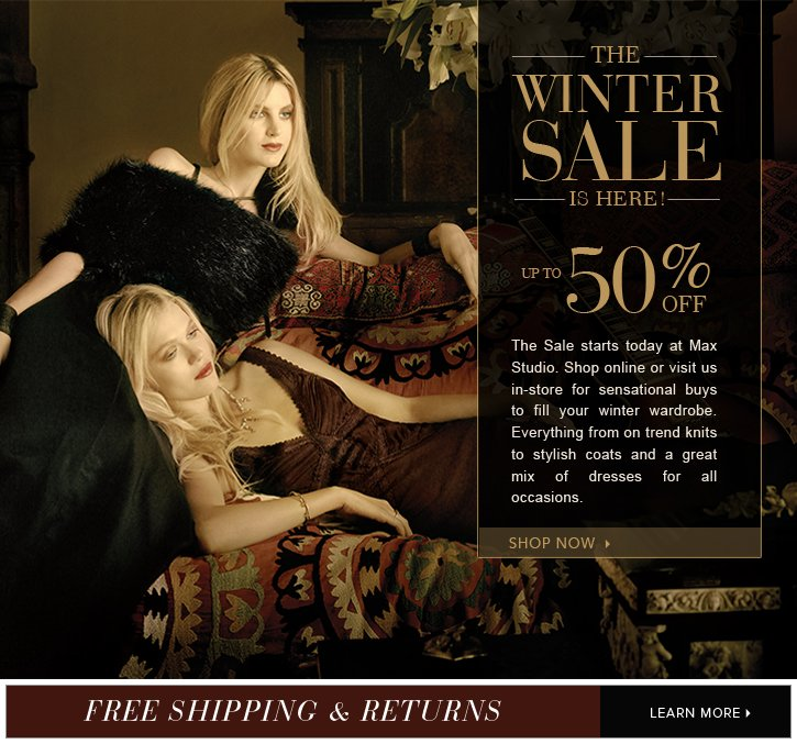 The Winter Sale is here - Up to 50% off