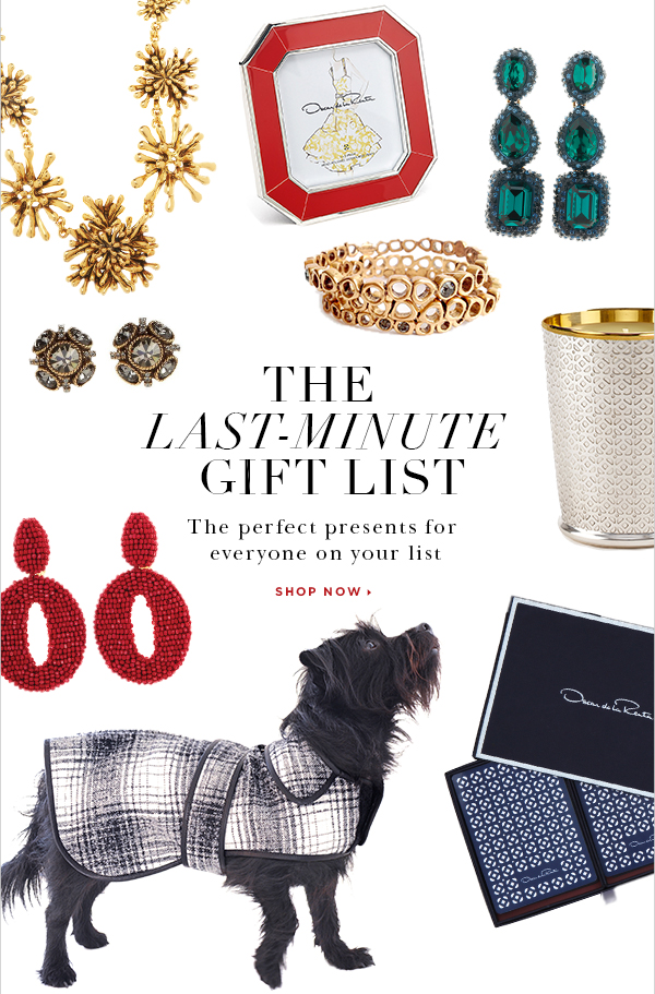 THE LAST-MINUTE GIFT LIST The perfect presents for everyone on your list SHOP NOW