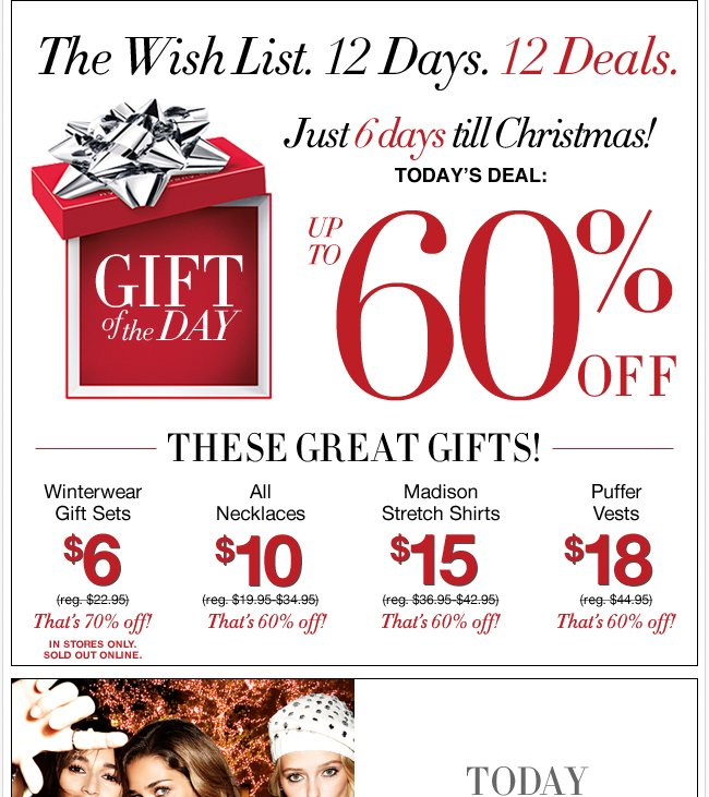 Up to 60% Off Great Gifts!