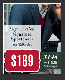 $169 USD - Signature Sportcoats