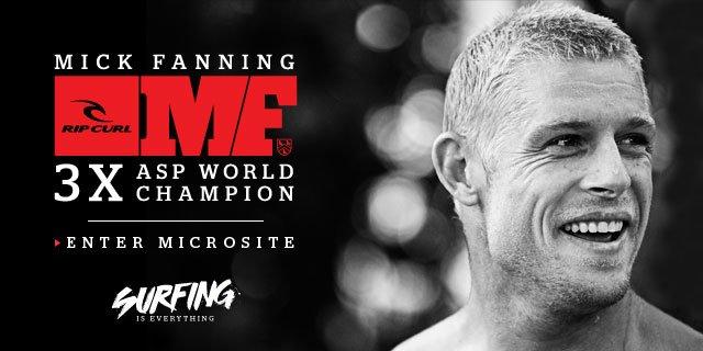 Mick Fanning 3 X ASP World Champion - Enter Microsite