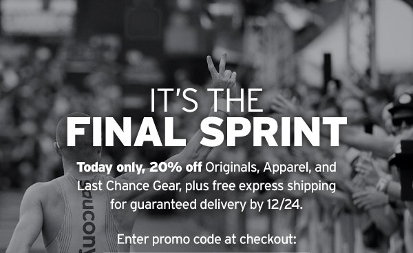 TODAY ONLY: 20% OFF ORIGINALS, APPAREL & LAST CHANCE
