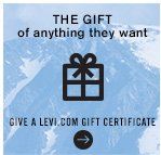The gift  of anything they want give a levi.com gift certificate